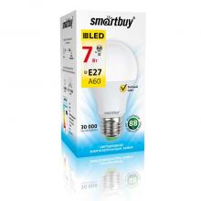 Светодиодная лампа Smartbuy A60 7W 3000K E27 560Лм