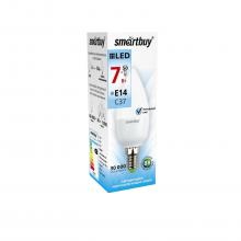 Светодиодная лампа Smartbuy С37 7W 4000K E14 550Лм (свеча)