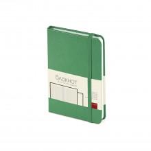 Ежедневник-блокнот недатированный Megapolis-Journal, А6, зеленый, бежевый блок, без обреза