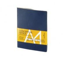 Блокнот Office pad, А4, бежевый блок, без обреза, клетка, 60 листов