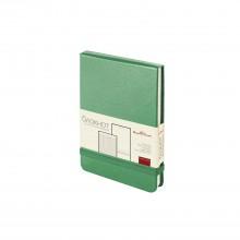 Ежедневник-блокнот недатированный Megapolis-Reporter, А6, зеленый, бежевый блок, без обреза