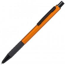 CACTUS, ручка шариковая, оранжевый/черный, алюминий, прорезиненный грип