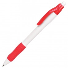 N4, ручка шариковая с грипом, белый/красный, пластик